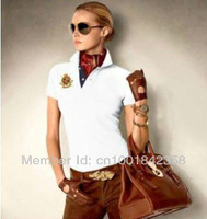 Free Shipping POLO Women's shirt ,Wholesale summer sport top tees shirt for women clothing ,color white blue red purple