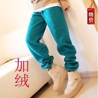 2012 autumn and winter fashion trousers street all-match loose fleece thickening sports casual health pants female