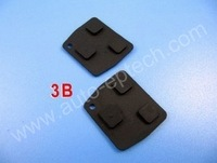 30pcs Brand New toyota remote key shell covers replacement rubber button 3 button,toyota car key repair kits cases press button