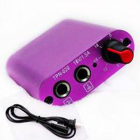 Professional 2013 New Purple High Quality Mini Tattoo Power Supply + Power Cord