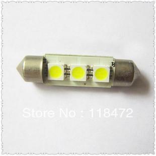 200pcs/lot Free Shipping Festoon Light 36MM 39MM5050 3SMD lights LED car dome light license lamp trunk lamp