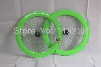 2013 70mm Deep V Track Bike Bicycle Wheelsets with Novatec Hubs Bike Parts