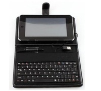 "Universal 7Inch MID Leather Cover Case USB Keyboard  for 7"" Tablet PC keyboard case"