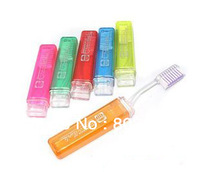 Free Shipping 50pcs/lot Folding Toothbrush Adult Travel Toothbrush Portable Toothbrush