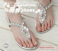 Luxury bling rhinestone cross flip-flop flat sandals silver black white copper