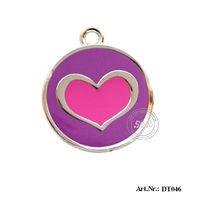 Free Shipping  Metal Heart Shaped Pet  Tag/Pet Id Tag,200pcs/Lot!