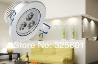 Free Shipping 3w 85-265v  led ceiling downlight lamp aluminum ,down light housing ,2years warranty