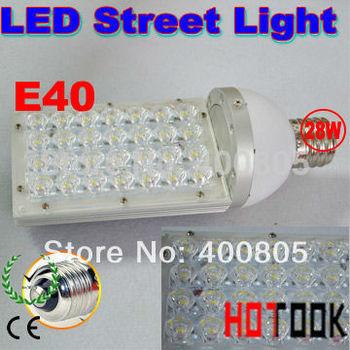 Dropship Mazorca E40 28W LED Street Light Epistar Road Bulb garden lamp path lighting 85-256V 28leds warranty 2 years CE & RoHS