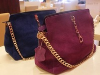 2013 New! Free shipping ladies leather bag, fahison suede leather chain bag, ladies brand handbag,high quality