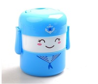 Free shipping lovely soldier heat preservation lunch box Rilakkuma Bento Box 16*15 cmWholesale or Retail