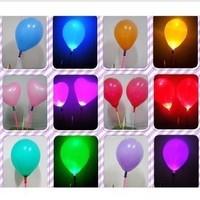 free shipping!Led glow stick luminous balloon flash balloon light ball colorful flash latex balloon