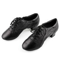 Nagle Latin dance shoes male child genuine leather cowhide men's ballroom dancing shoes adult boy dance shoes