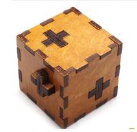 3D Wooden Cube Block toy Interlocked Ruban Lock Unlock  Children Education Adult toys Personality gift