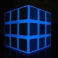 Luminous Lights C4U 3x3x3 Blue Glow in Dark  Professional Speeding Magic Puzzle Cube Educational toys Gift