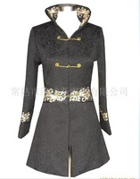 Free Shipping New Charming Chinese Women's Embroidery Jacket/Coat Black SZ S M L XL XXL XXXL WJ6637