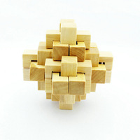 Conundrum Wood Construction Puzzle Wooden Toy Brain Teaser 24 Blocks Lock Adult Children Educational Toys
