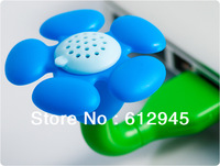 Free shipping 4 colors Green,Purple,Red,White U Disk + USB Fragrance device flower shape