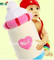 Free shipping  Plush toys cartoon cushion for leaning on back cushion large lovely bottle hold pillow doll 56CM