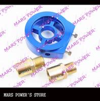MARS POWER- Oil Filter Cooler Sandwich Plate Adapter M20,  3/4 UNF-16 size /BLUE