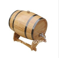 free shipping 1.5L wooden white Oak Wine Aging wood Barrel Rum Cask Beer Keg