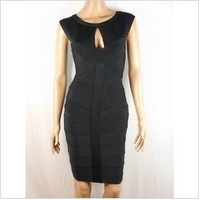 Free delivery service: in 2012 new shoulders round collar bandage dress, elegant evening dress