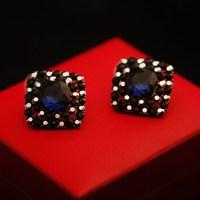 Fashion blue crystal Stud Earrings FREE SHIPPING!