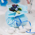 GAGA ! Free shipping blue  love wedding gift bag , organza bag , candy package bag , 100 pcs/lot , IJ43