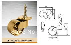 brass castors,copper castors,copper furniture castor,(China (Mainland))