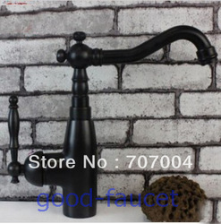 Modern Euro Oil Rubbed Bronze Bathroom Basin &amp; Kitchen Faucet Vessel Sink Mixer Tap Single Handle(China (Mainland))