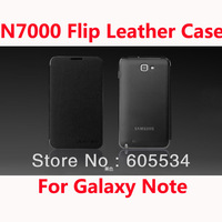10pcs/lot Back cover flip leather battery housing case for Samsung Galaxy Note N7000 i9220 ,Free shipping