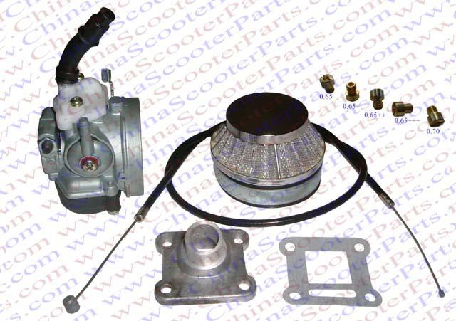 Racing HP 15MM Carb Intake Air filter Cable Jets Kit for 47CC 49CC Mini Moto ATV Quad Dirt Pit Bike Carburetor kit(China (Mainland))