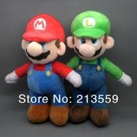 """Free Shipping New Super Mario Bros. Stand MARIO & LUIGI 2 pcs Plush Doll Stuffed Toy 10"""" Retail"""