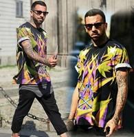 Free Shipping! Hot! 2013 Fashion New Brand Giv Bird of paradise Printing Men's Cotton Short sleeve T-Shirt Shirts Tops Black