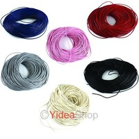 40m Leather Cord/Thong 2mm Fit Jewelry handmade Necklace Cords  2mm 130224 -130228 Free Shipping