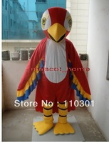 New Adult Size Parrot In Red Mascot Cartoon Mascot Costume Fancy Dress Free Shipping