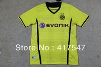 13/14 Borussia Dortmund Home yellow best thai quality soccer jerseys football shirt with embroidered logo