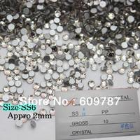 Free Shipping  Flatback Crystal Rhinestone Color Crystal Clear 1440PCS Nail art decoration