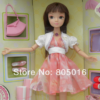 29CM Tall Kurhn Bobby Doll Sunny Mood Gentle Girl With 3 Set clothings, Joint Body Gift Model Toy