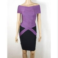 Free delivery service: in 2012 the new fashion, purple black dress, evening dresses