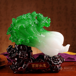 One hundred financial jade ruyi cabbare decoration home resin crafts fashion(China (Mainland))