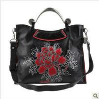 Ms. 2013 new leather handbags original design Filigree processes shoulder handbag
