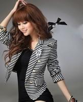 Новый стиль, элегантный все матч свернуть подол горошек средне долгосрочной малых костюм куртки, верхняя одежда для женщин
