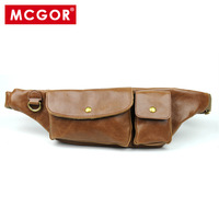 Mcgor 2012 man bag faux leather waist pack chest pack cigarette packaging messenger bag casual small bag