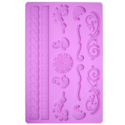 1 piece Silicone Mould FONDANT OR GUM PASTE CAKE DECORATING MOLD Tools(China (Mainland))