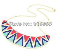 free shipping 10pcs/lot metal alloy resin necklace hot sale new style fashion jewelry with chain necklace