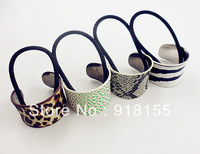 Lovely Chain Elastic Leather Hair Band Headband stretch leapord hair band women hair accessories