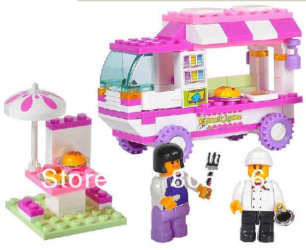 Sluban Educational Kids building Blocks M38 B0155 DIY font b Girls b font Dream Sanck font