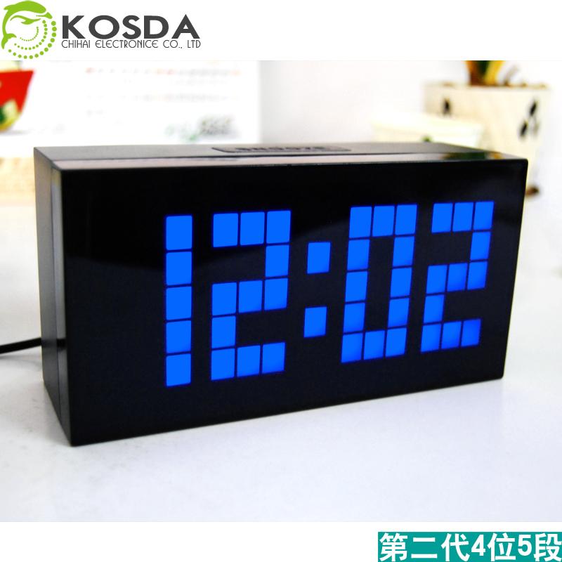 led digital calendar wall clock living room clock large calendar wall ...
