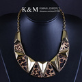 K&M---New arrival statement jewelry Leopard necklace FREE SHIPPING two colors