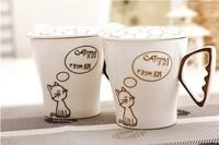 2013 New Arrival Fishbone Coffee Cup Mug Lovers Mug With Lid Ceramic Cup ZAKKA Creative Expression Cup